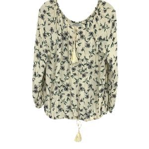 3/20 Skylar + Madison Floral Peasant Top Boho